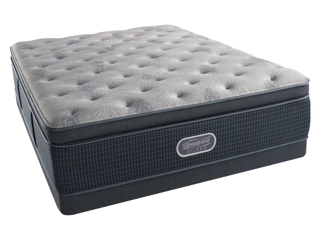 Simmons Beautyrest Silver Lvl 2 Charcoal Coast Lux Firm SuQueen 15.5