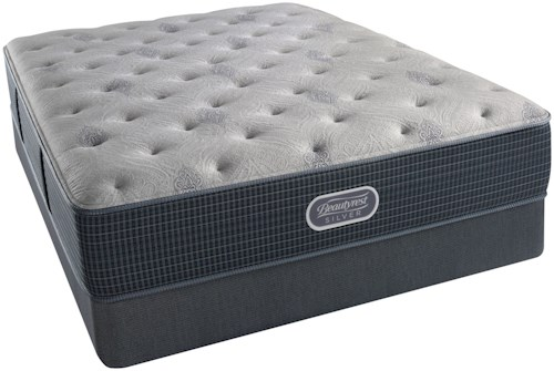 Beautyrest Silver Charcoal Coast Luxury Firm Cal King Mattress and Triton Foundation