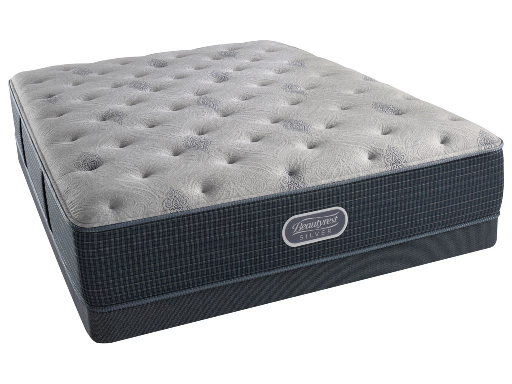 Simmons Beautyrest Silver Lvl 2 Charcoal Coast Luxury FirmKing 13.5