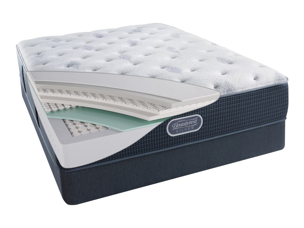 Simmons Beautyrest Silver Lvl 2 Charcoal Coast Luxury FirmQueen 13.5