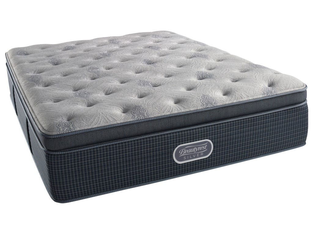 Simmons Beautyrest Silver Lvl 2 Charcoal Coast Plush SummiQueen 15.5