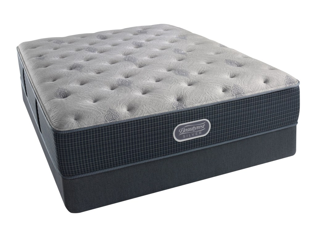 Simmons Beautyrest Silver Lvl 2 Charcoal Coast PlushKing 13.5