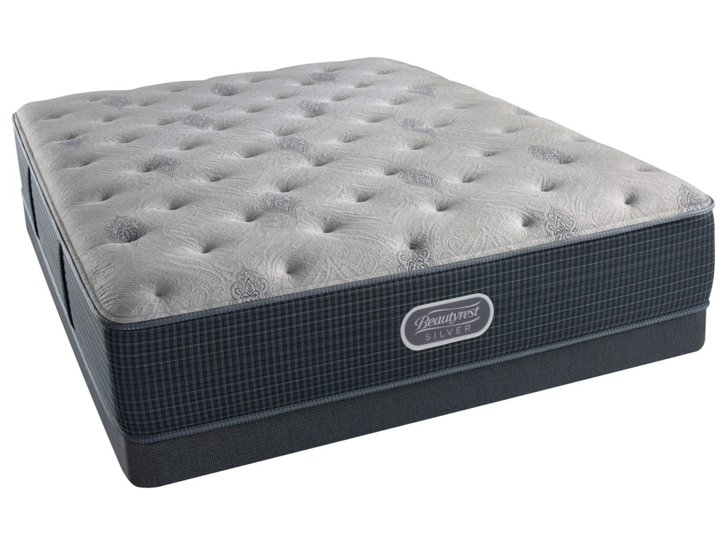 Beautyrest Silver Charcoal Coast PlushBeautyrest Silver Twin XL Low Profile Set