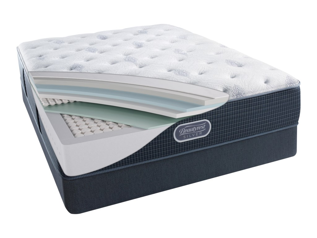 Simmons Beautyrest Silver Lvl 2 Charcoal Coast PlushCal King 13.5