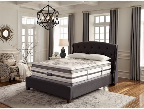 Simmons BR WC Irwindale King Plush Box Top Mattress and World Class Low Profile Foundation