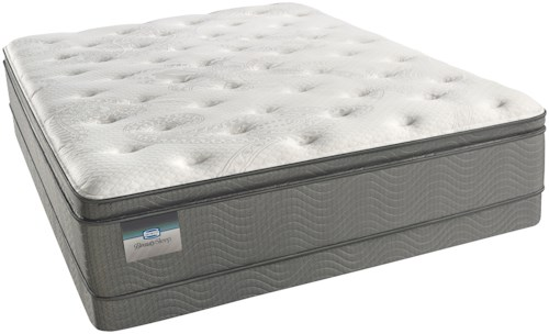 Beautyrest Beautysleep Keyes Peak Luxury Firm Pillow Top Queen Mattress and Low Profile Triton Lite Foundation
