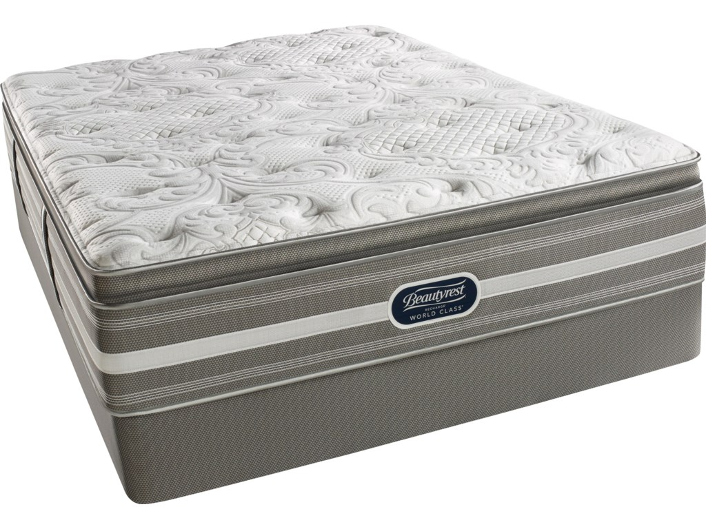 Simmons World Class Level 2 JaelynCal King L Firm PT Mattress Set