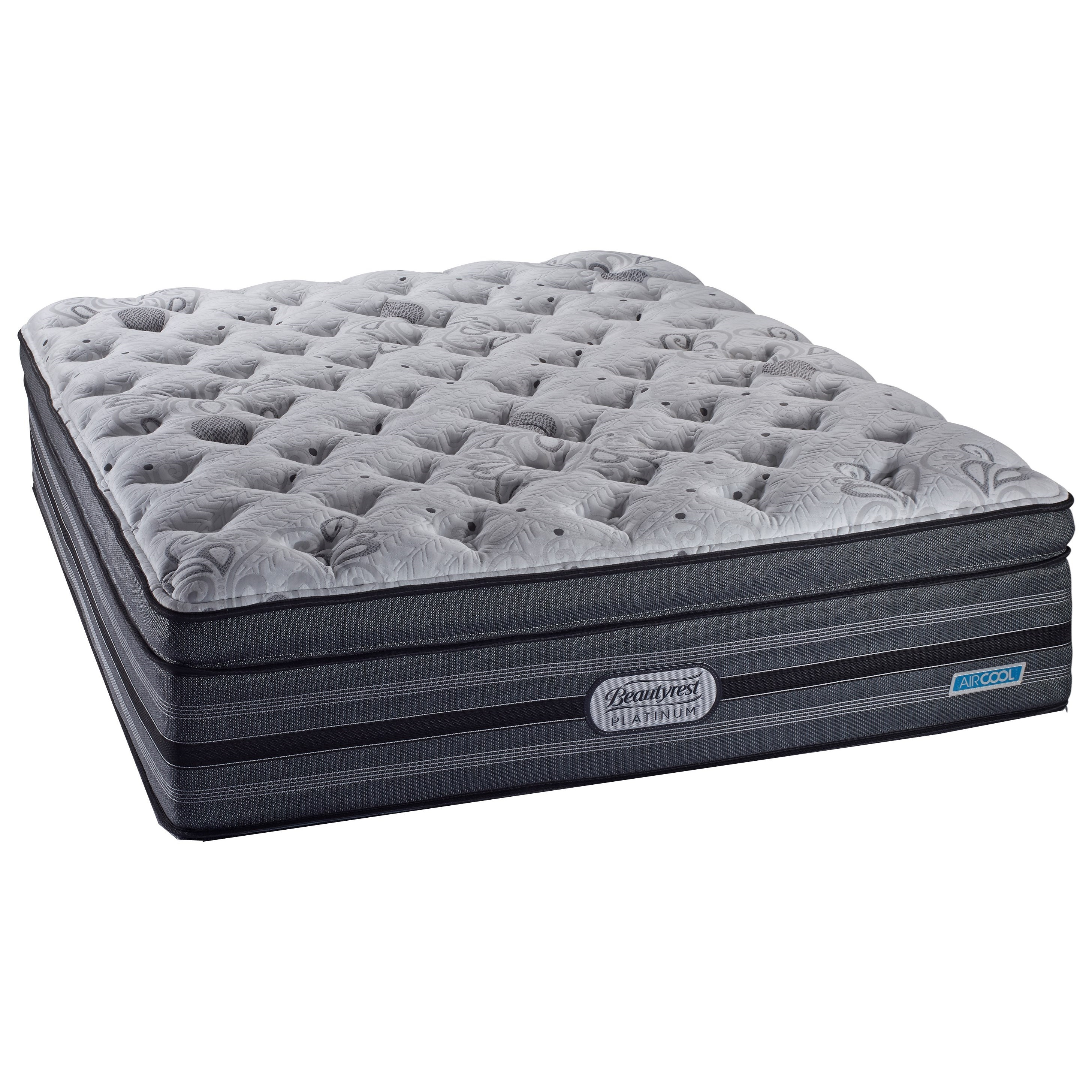 simmons beautyrest platinum milan queen comfort top plush pocked coil mattress