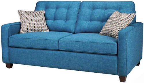Simmons Upholstery Canada Carly Double Hide-A-Bed with Button Tufting
