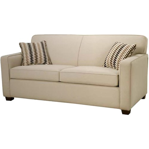 Simmons Upholstery Canada Manhattan Double Hide-A-Bed with Track Arms