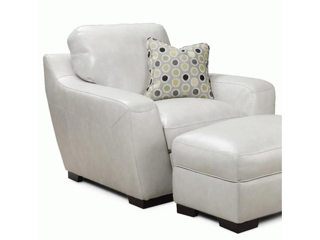 Simon Li Alpha Leather Match Chair With Accent Pillow Rooms For