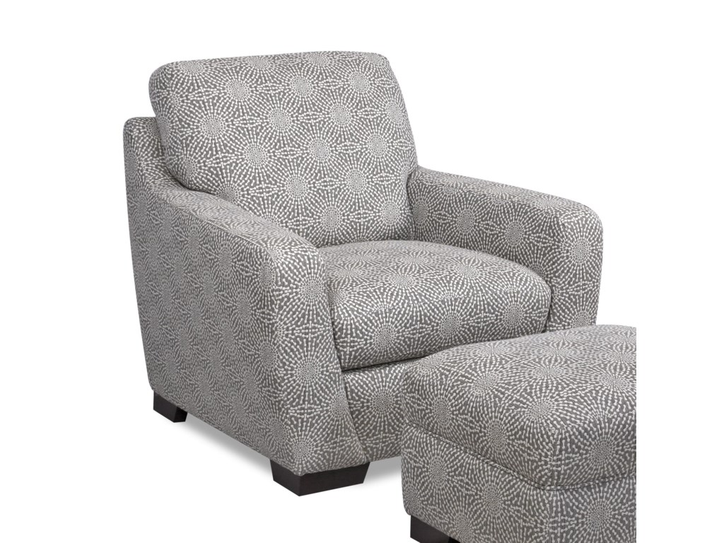 Valente Leather 6948Upholstered Accent Chair