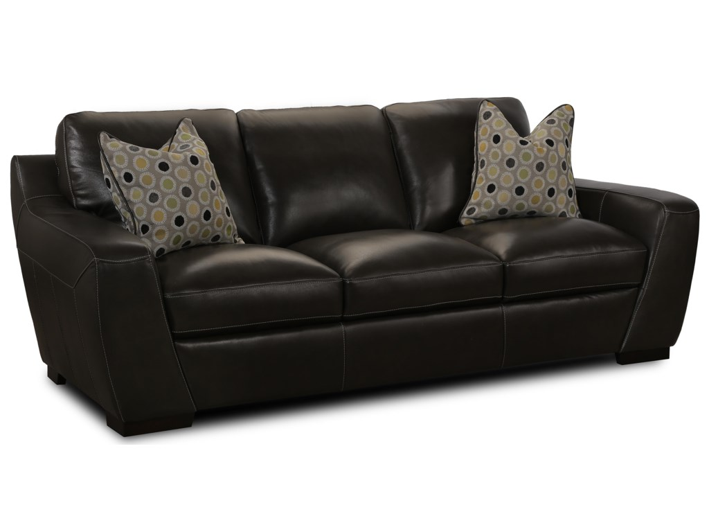 Simon Li AlphaStationary Leather Match Sofa