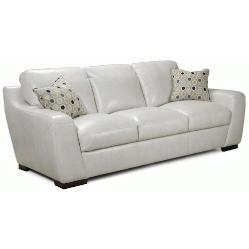 Leather Match Sofa: Simon Li Alpha Stationary Leather Match Sofa With Fabric