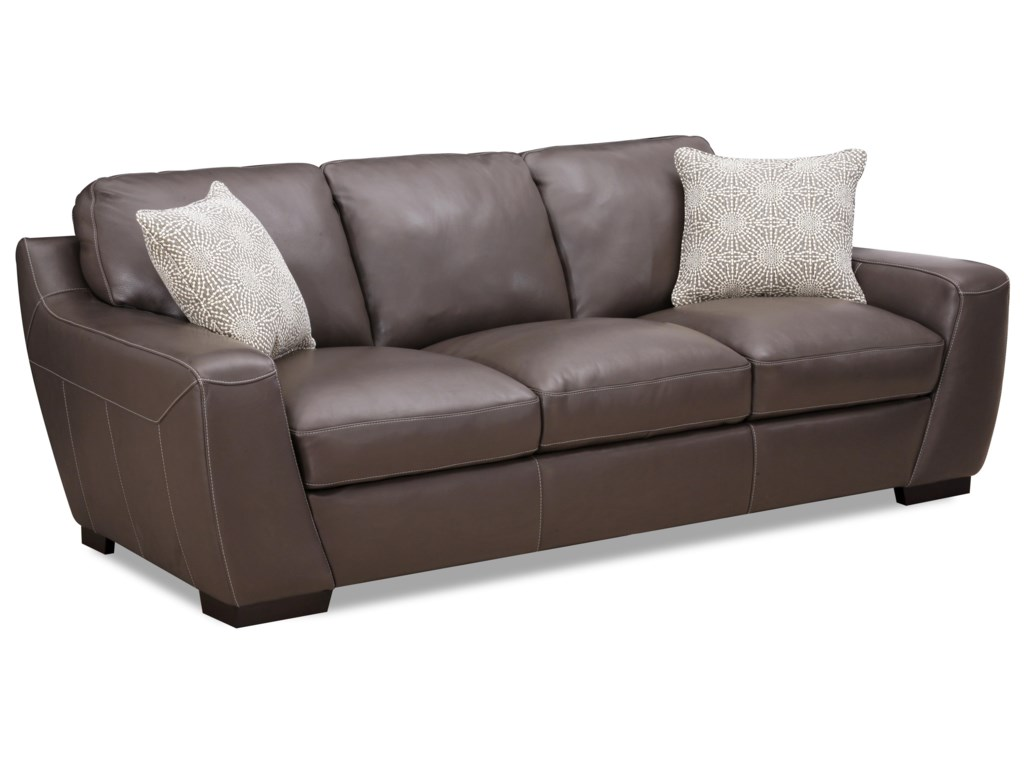 Simon Li AlphaStationary Leather Match Sofa