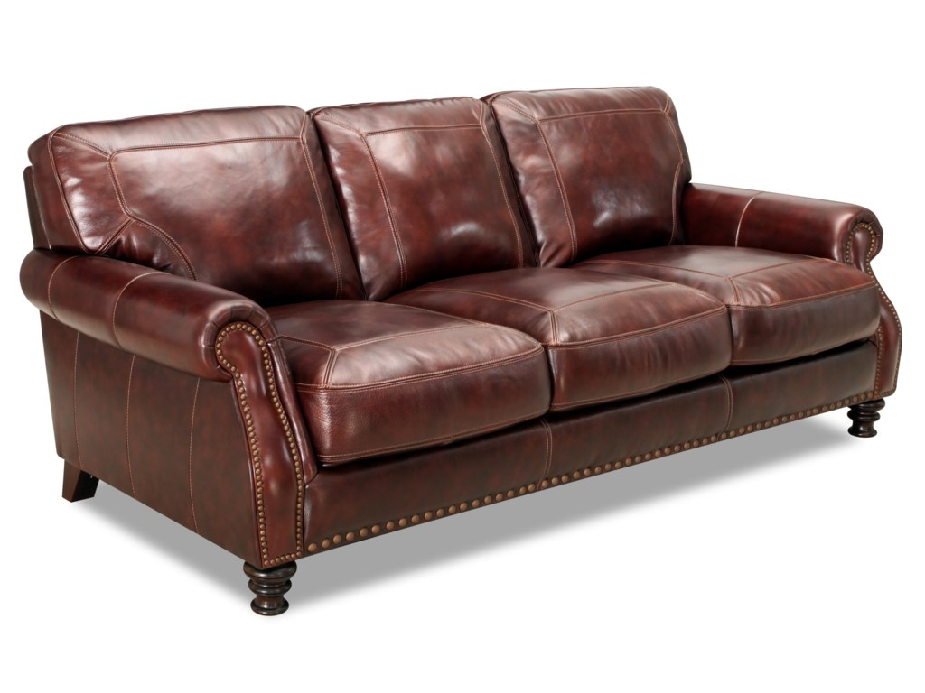Valente Leather 6978Rolled Arm Sofa