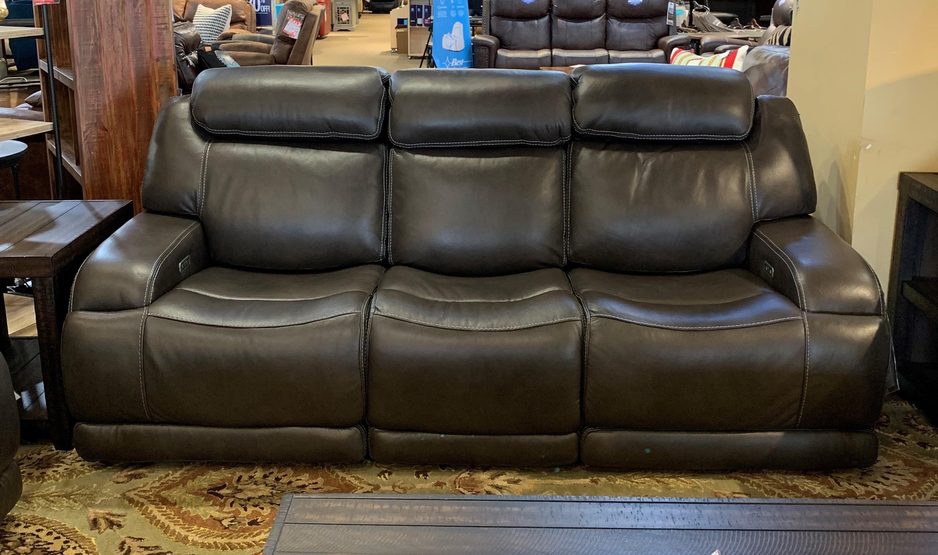 - Simon Li Ferrara Ferara Reclining Leather Sofa Howell Furniture