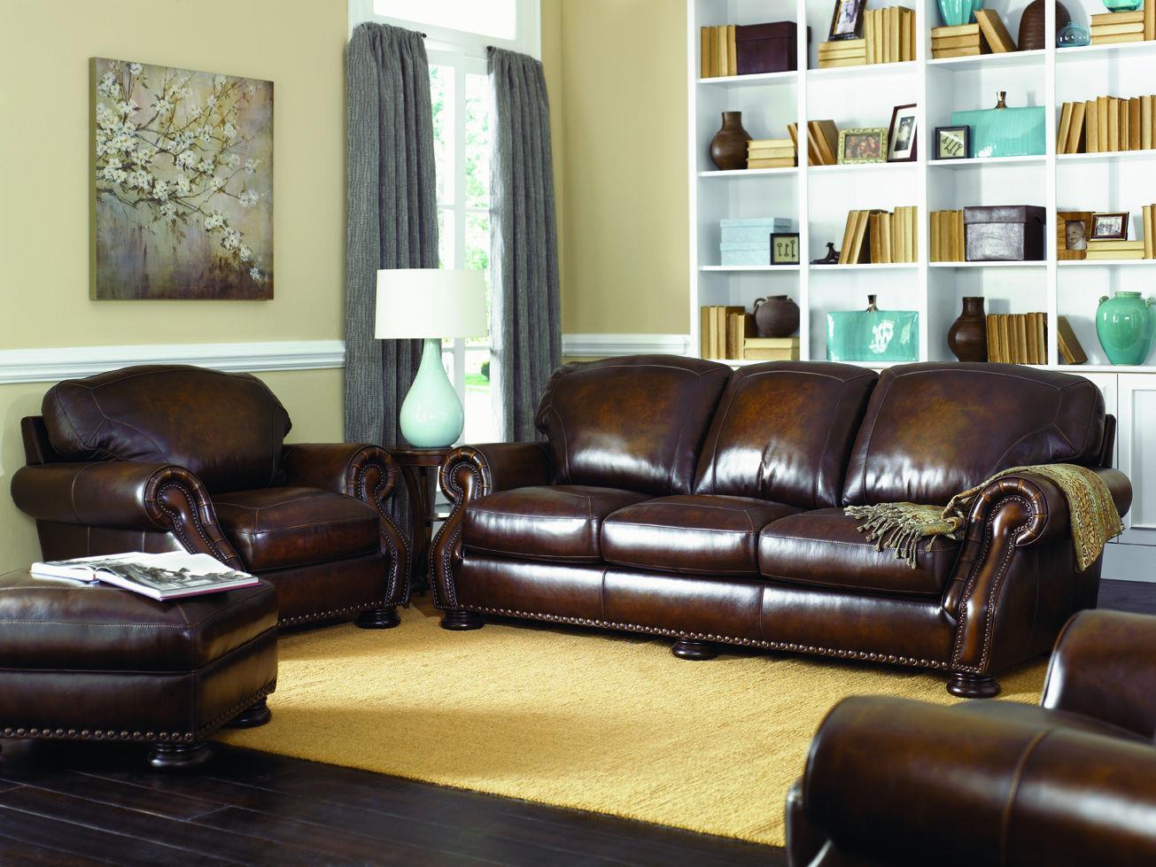simon li h039 all leather traditional sofa with nail head trim - Simon Li Furniture