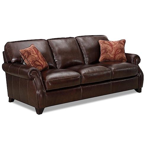Simon Li J002 Rich Brown Leather Stationary Sofa Story