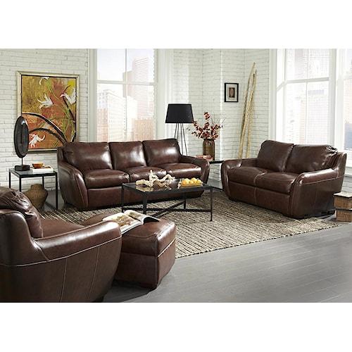 Simon Li Bella Stationary Living Room Group Story Lee Furniture Upholstery Group Leoma