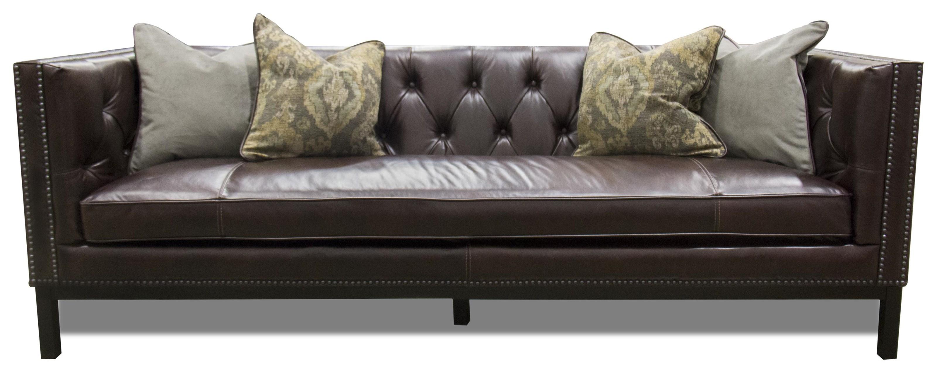 Simon Li ManhattanLeather Sofa In St. James Cordovan