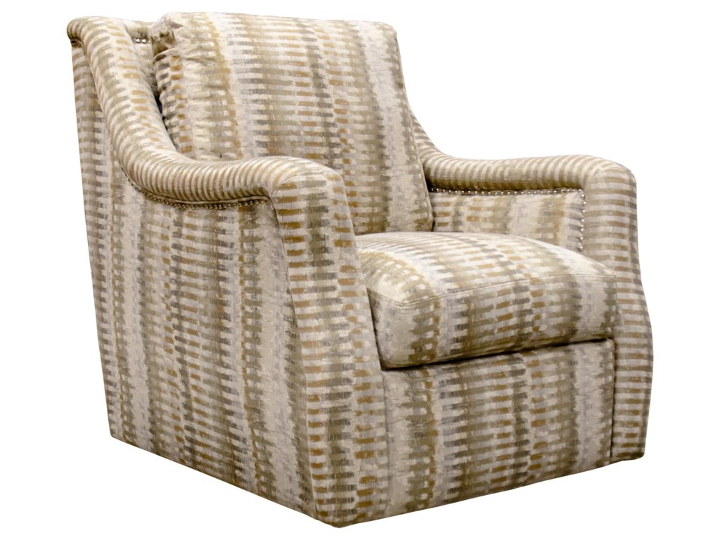 Simon Li NeutralSwivel Accent Chair