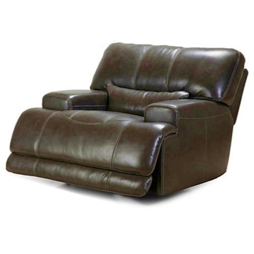 Simon Li Placier Leather Match Power Recliner