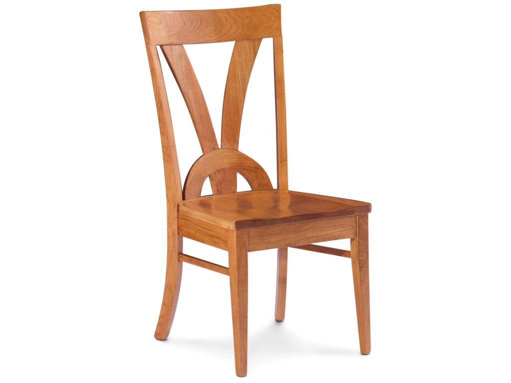 Simply Amish AdelineSide Chair with Decorative Back
