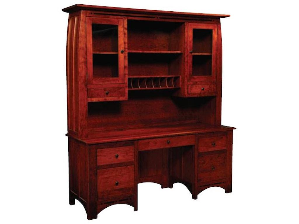 Simply Amish AspenHutch Top for Desk or Credenza