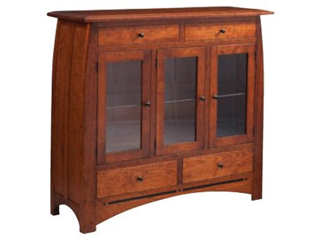 Simply Amish AspenDining Cabinet with Glass Doors