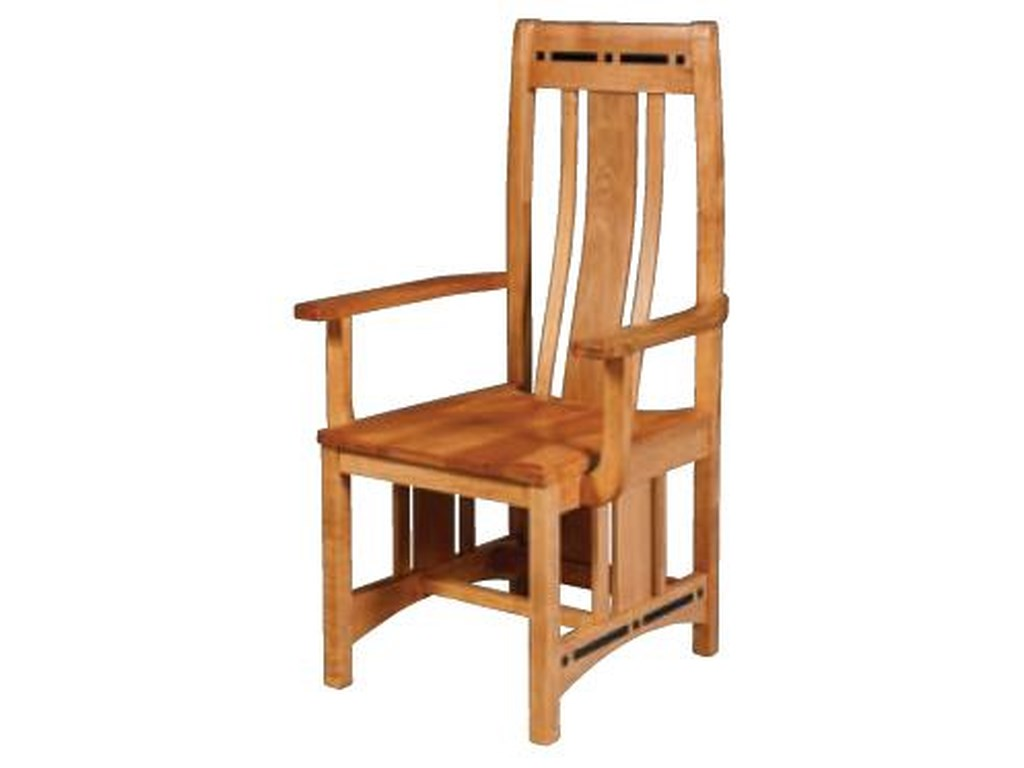 Simply Amish AspenWood Seat Aspen Chair with Lower Back