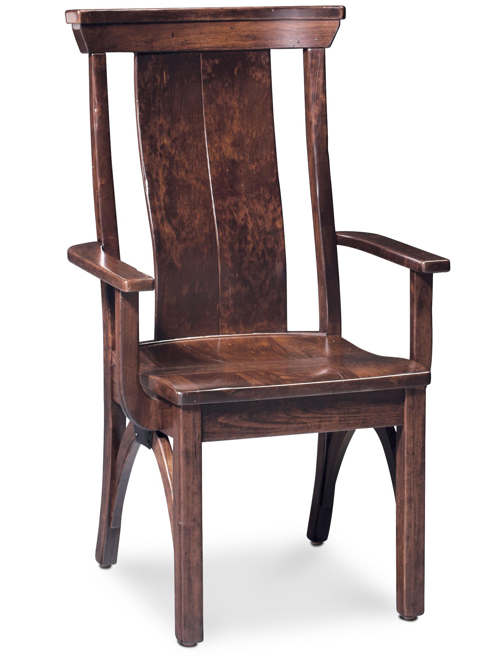 Trestle Bridge Arm Chair with Splat Back