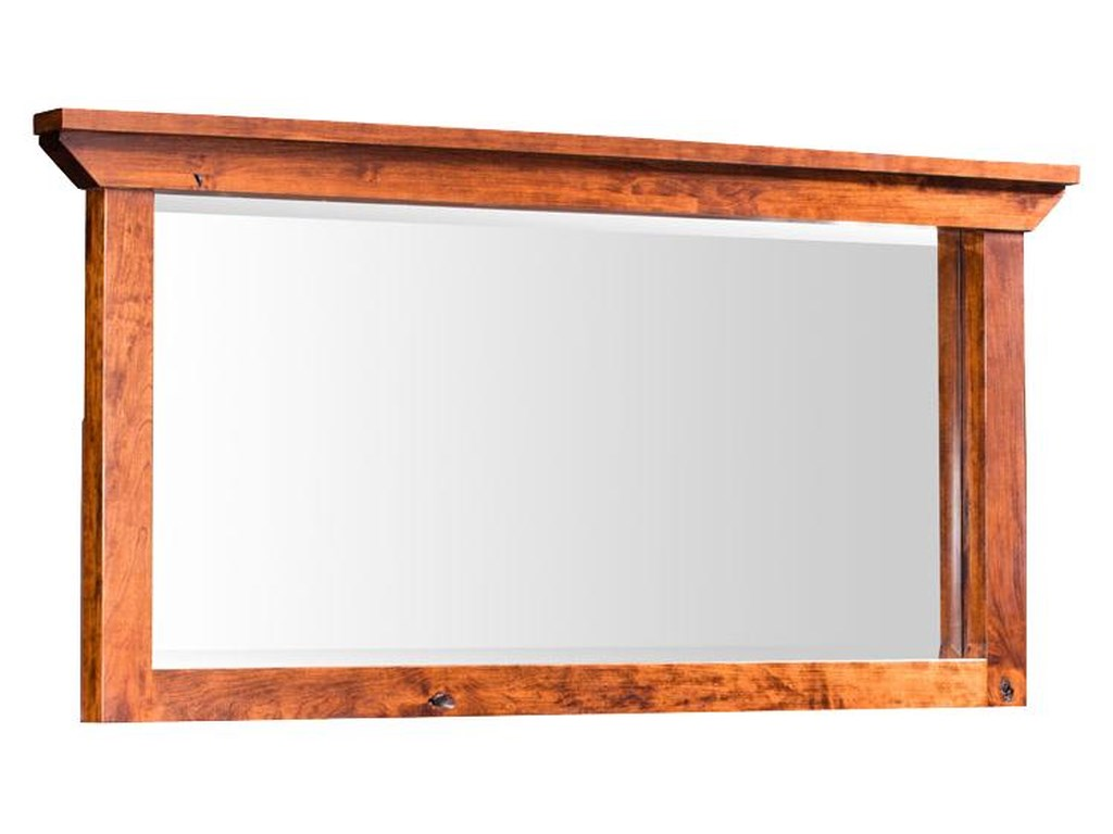 Simply Amish B and O RailroadMedium Bureau Mirror