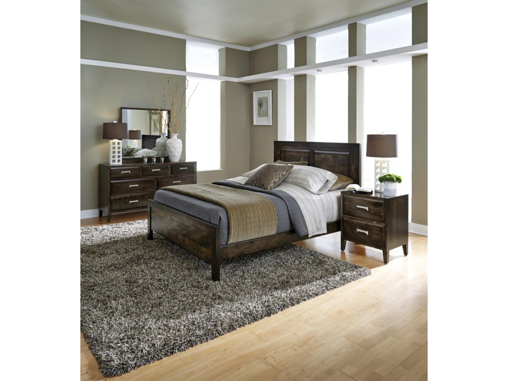 Simply Amish Beaumont SAQueen Panel Bed