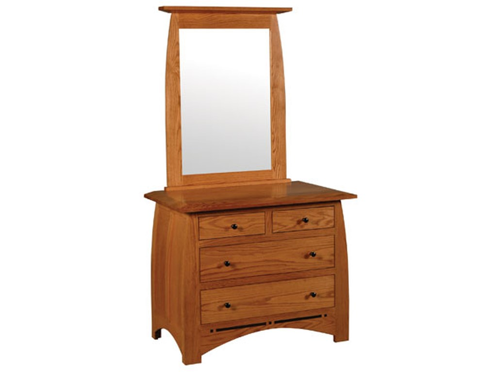Simply Amish AspenShort Chest and Beveled Mirror