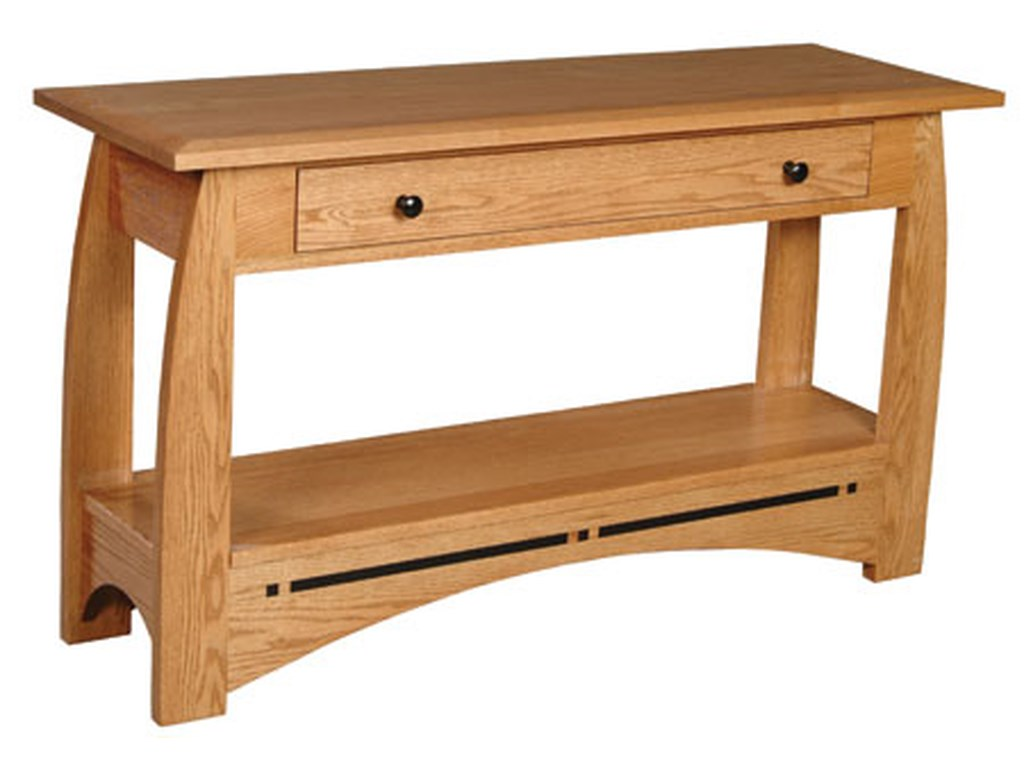 Simply Amish AspenDrawer Sofa Table