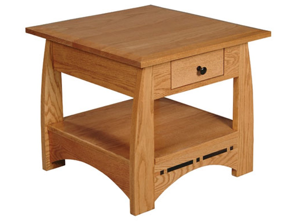 Simply Amish AspenDrawer End Table