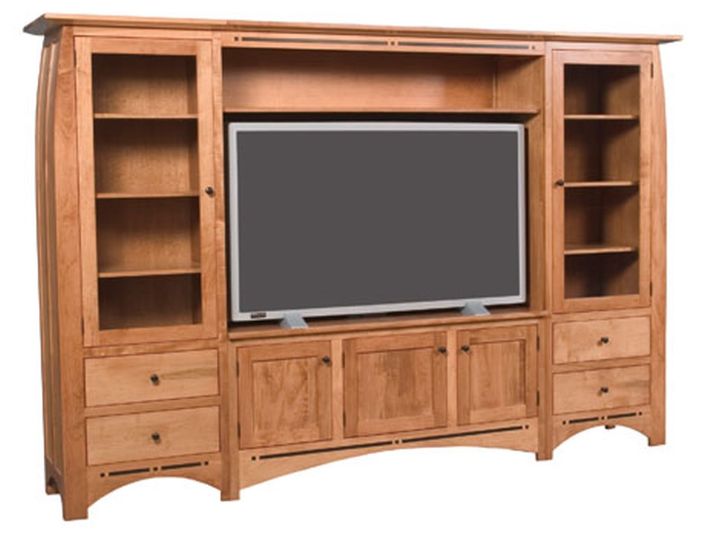 Simply Amish AspenWall Unit Entertainment Center
