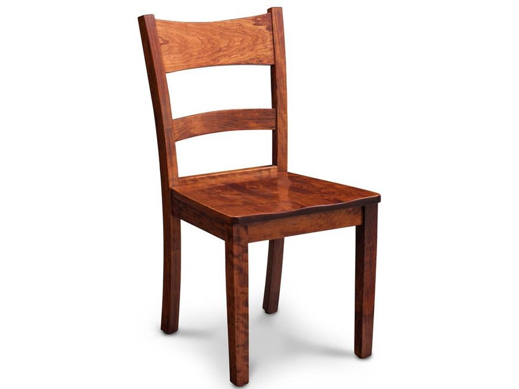 Simply amish express ecxshe 02a w k shenandoah side chair w wood seat dunk bright furniture dining side chairs