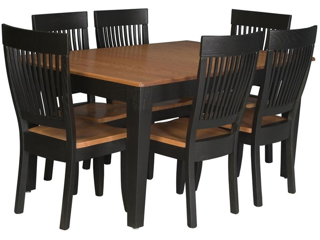 Homestead Amish 7 Piece Leg Table and Side Chair Set by Simply Amish at  Becker Furniture World