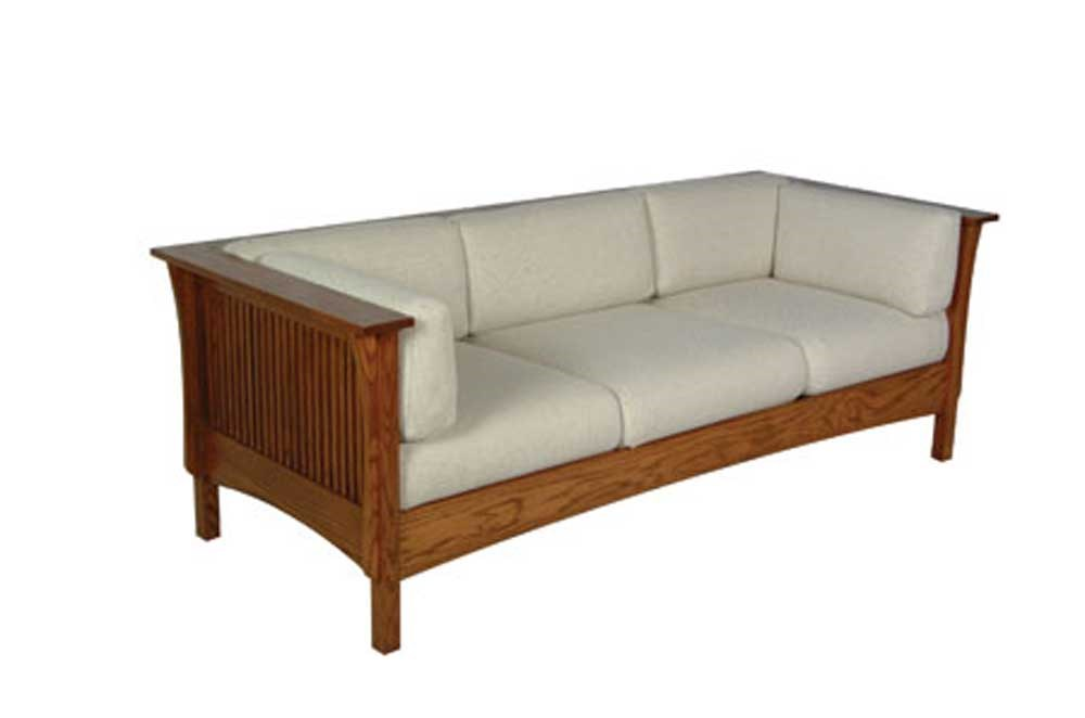 Simply Amish Prairie MissionSofa With Spindles