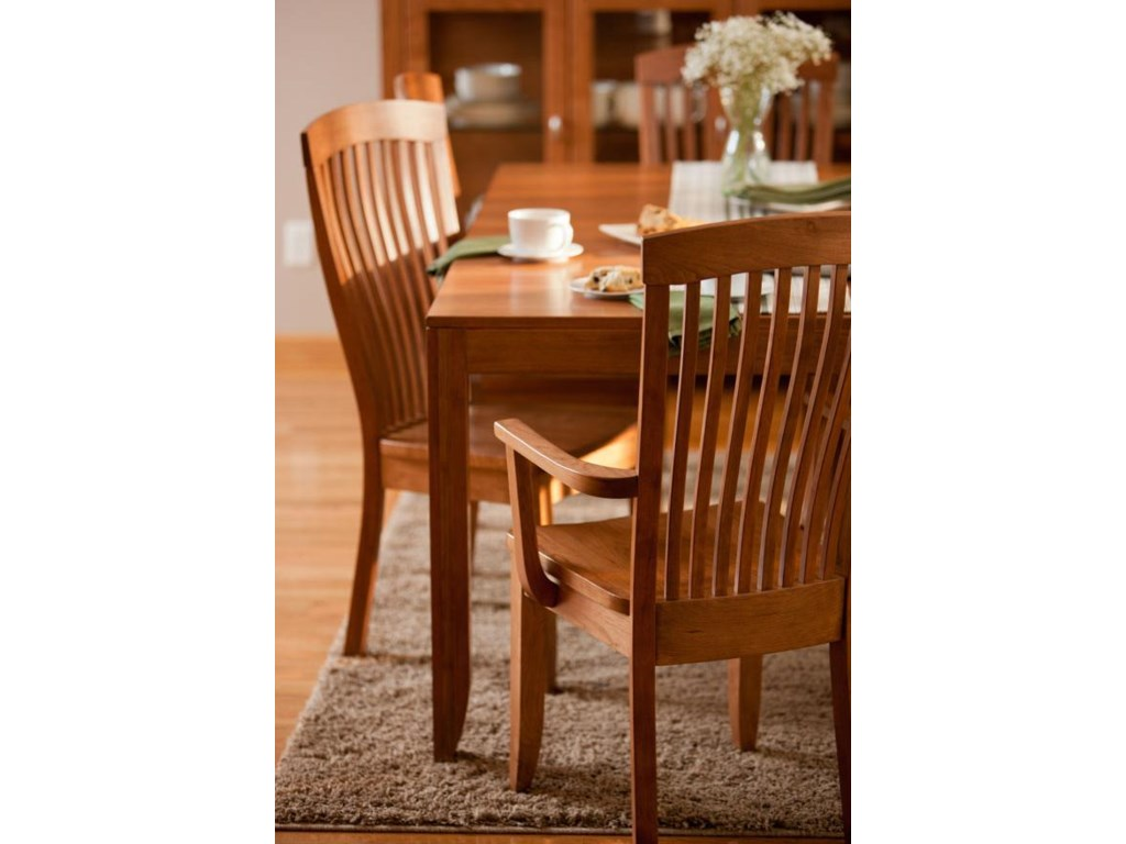 Shown with Table and Arm Chair