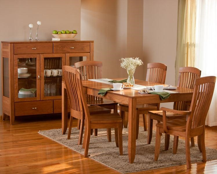 Shown in Room Setting with Table and Arm Chairs