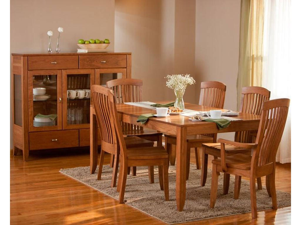 Simply Amish JustineDining Cabinet with Plain Glass Doors