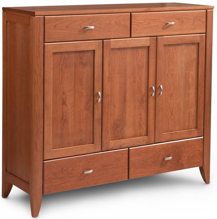 Simply Amish JustineDining Cabinet With Wood Doors