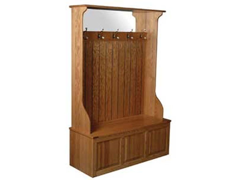 Simply Amish Clic Kahb48r W Hall Bench Becker Furniture