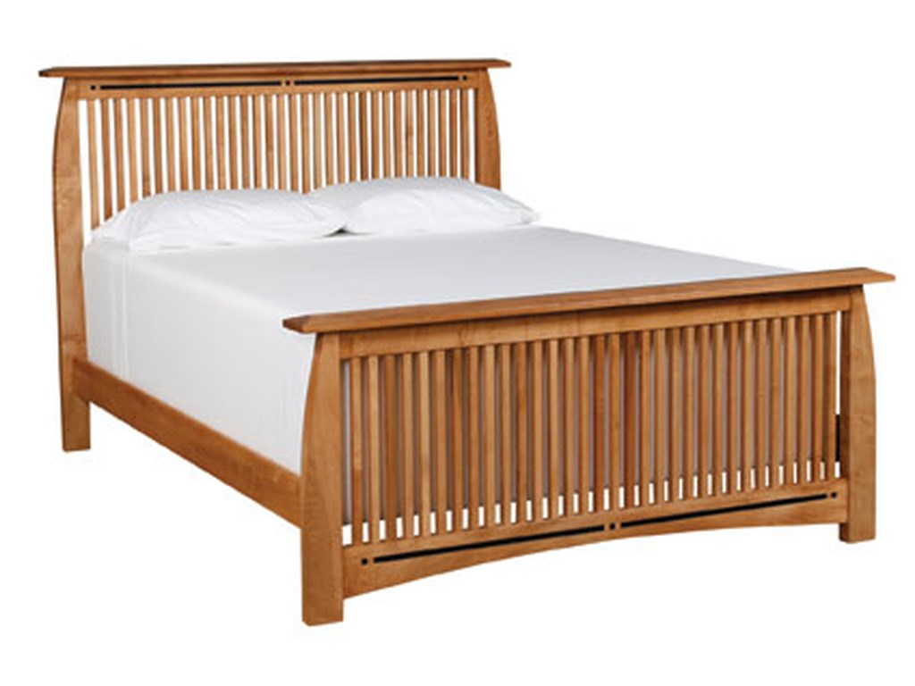 Simply Amish AspenKing Spindle Bed