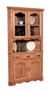 Simply Amish Classic2 Door Open Corner China Cabinet