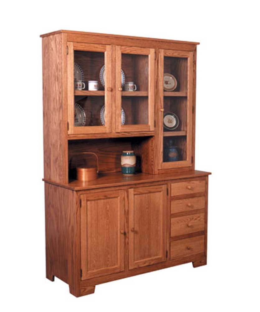 Shaker Amish Shaker Hoosier China Hutch Right By Simply Amish