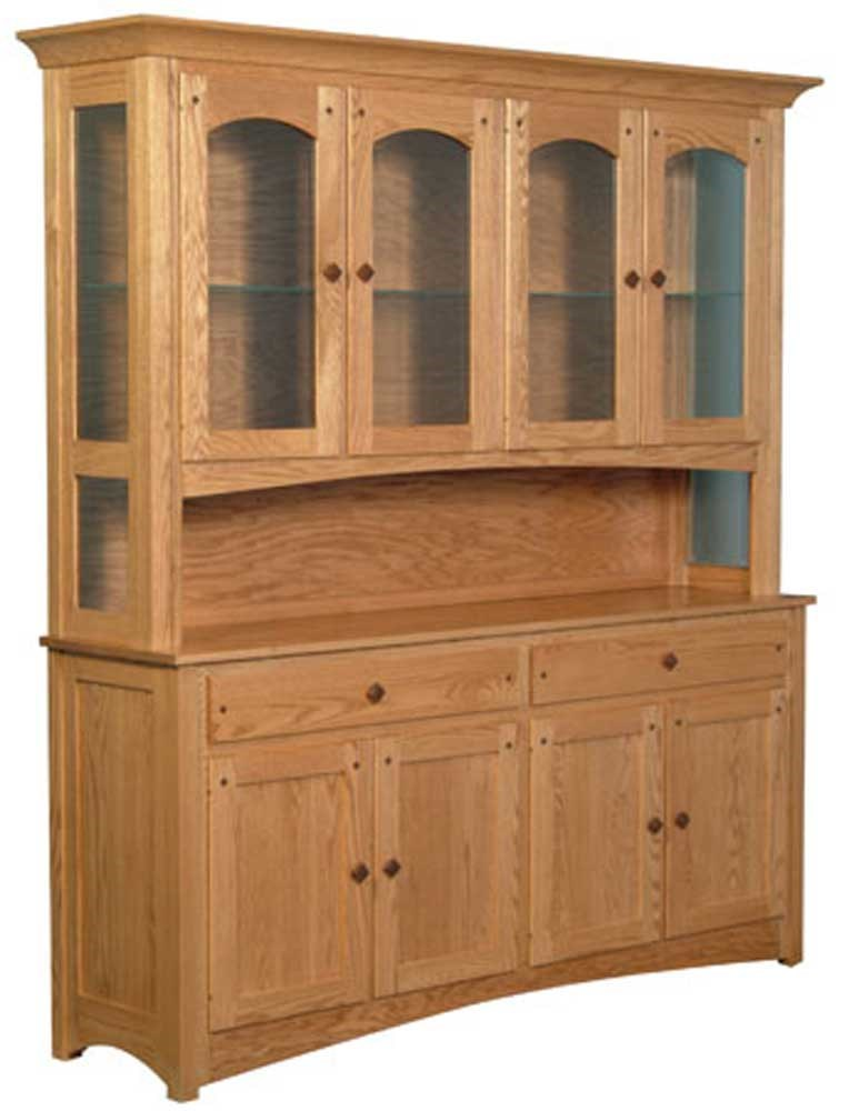 Royal Mission Royal Mission Open Hutch With 4 Arch Doors By Simply Amish